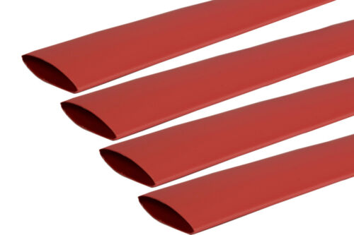 "4 Lot TEMCo 1/"" Marine Heat Shrink Tube 3:1 Adhesive Glue Lined 4 ft RED"