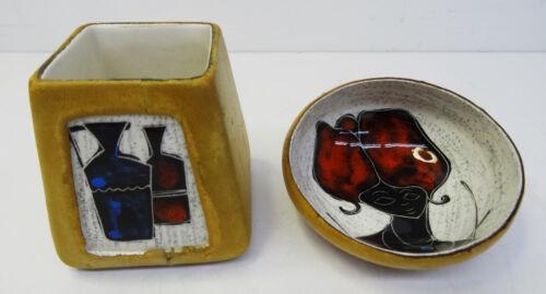 mid century design 50s - Emaille Schale und Behälter - made in Italy - 50er