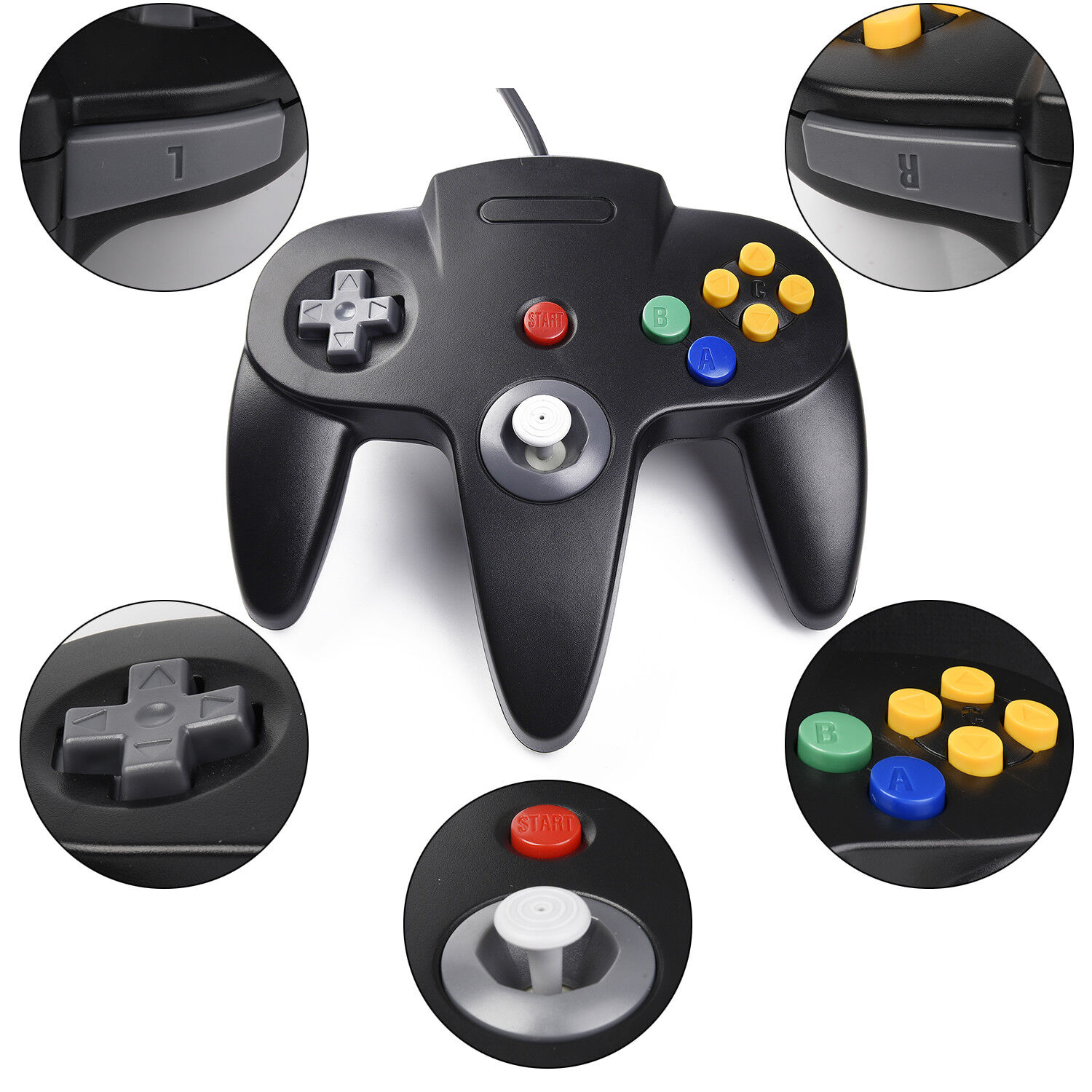 Controller Joystick Gamepad Controllers for Classic N64 Console Video Games 1x2x 7