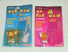 vintage PAC-MAN & MS. PAC-MAN collectable arcade figure MOC LOT x2 Coleco