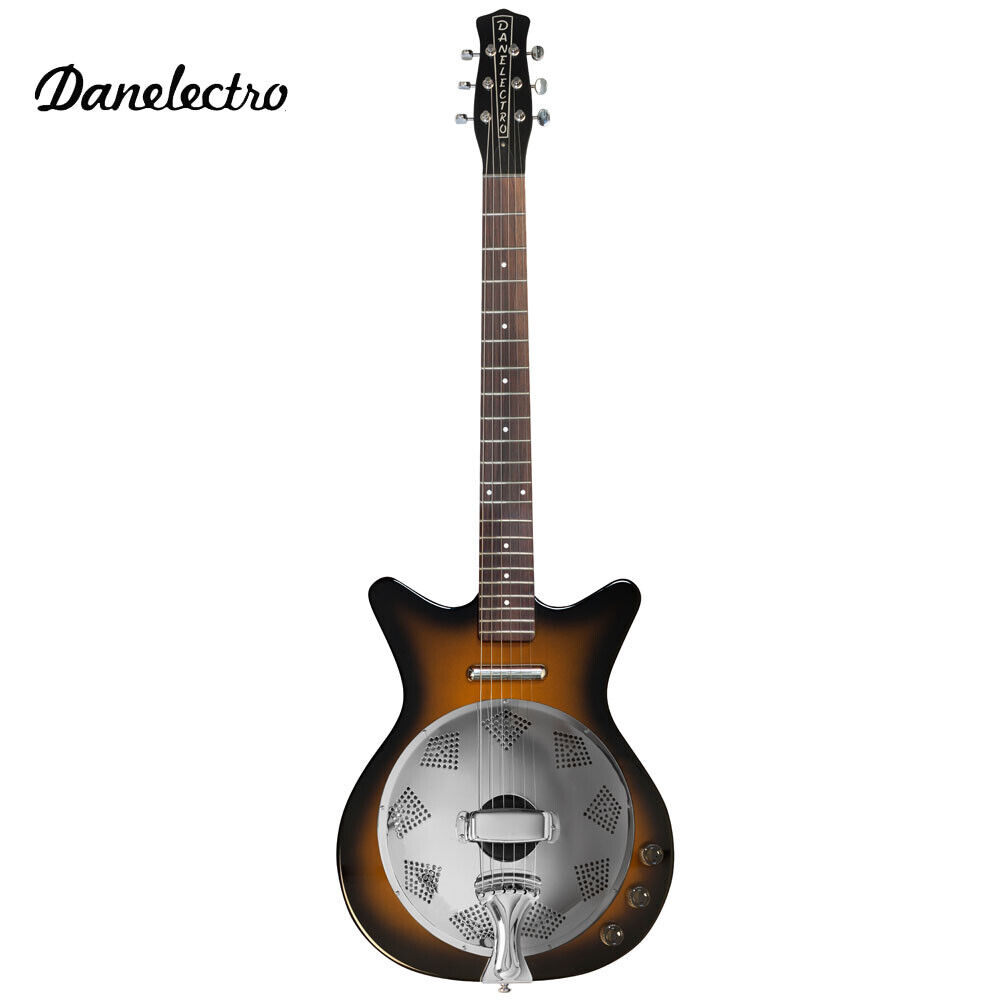 Danelectro'59 Resonator Hollow Body Acoustic Electric Guitar Tobacco Sunburst