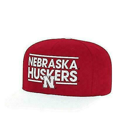 87a2f36fdd20d Nebraska Cornhuskers NCAA Adult Mens adidas Dassler Hat Cap Flat Brim  Snapback for sale online | eBay