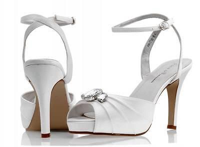Elfenbein Satin Brautjungfer Hochzeit Schuh Größe 3,4,5,6,7,8 Style Anastasia Letzter Stil Kleidung & Accessoires