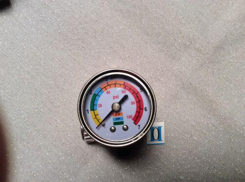 Manometer für LACKIERPISTOLEN HVLP SKALA EDELSTAHL Glas Devilbiss,Optima