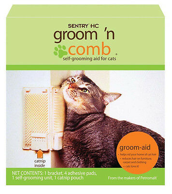 SENTRY KITTY KORNER KOMBER CAT GROOMER SELF BRUSH + CATNIP FREE SHIP IN THE USA