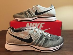 926f352206863 New Mens Nike Flyknit Trainer 2017 Pale Grey Black White AH8396-001 ...