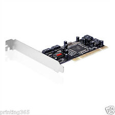 4port SATA PCI Controller m. Raid + 2x SATA Kabel