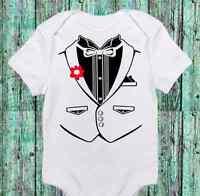 Baby Boy Tuxedo - Tux Funny Onesie - Cute- Boy Bodysuit Clothes - Newborn To 12m
