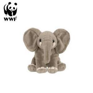 Wwf-Animal-en-Peluche-Elephant-14cm-Realiste-a-Caliner-Pachyderme-Afrique