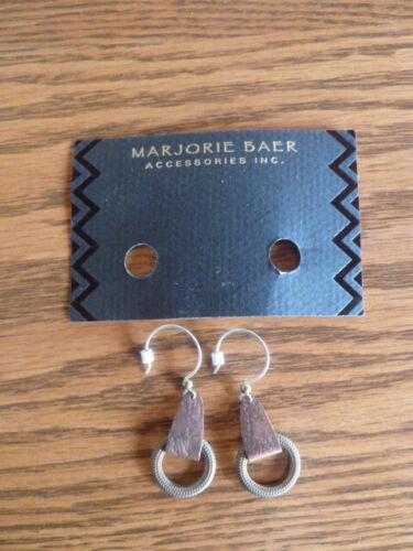 Vintage metal Marjorie Baer earrings