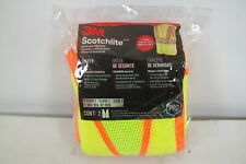 3m High Visibility Yellow Reflective 2 Tone Construction Safety Vest 2 Pack