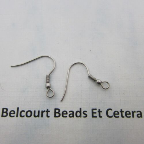 200 Stainless Steel Ear Wires with Loop and Ball 100 Pairs .6mm Size of Wire