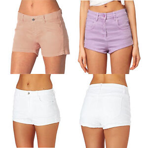 Women Stretch Denim High Waist Hot Pants Ladies Shorts UK Plus ...