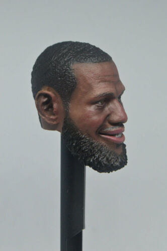 1//6 Soldier NBA Lebron James Black Head Carving Fit 12/'/' Body Action Figure Toys