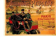 "MFD IN FRANCE ILLUSTRATED 4"" X 6"" POSTCARD : AUTOMOBILES PEUGEOT : PARIS"