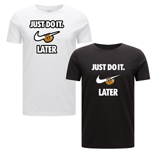 45e28d30 Just Do it Later Inspired Sloth Mens T-Shirt Funny Unisex Kids ...