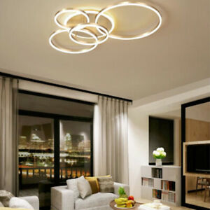 Circular Gold Ring Ceiling Led Lamp