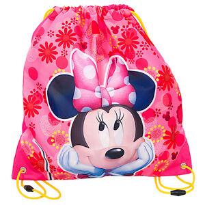 Minnie-Mouse-Drawstring-Shoe-Bag-Dance-Swim-Bikini-Gym-Sports-Girls-Disney-Pink