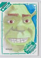 Shrek The Third 2007 Inkworks Hand Drawn Sketch Card by Lee Kohse /338 1/1