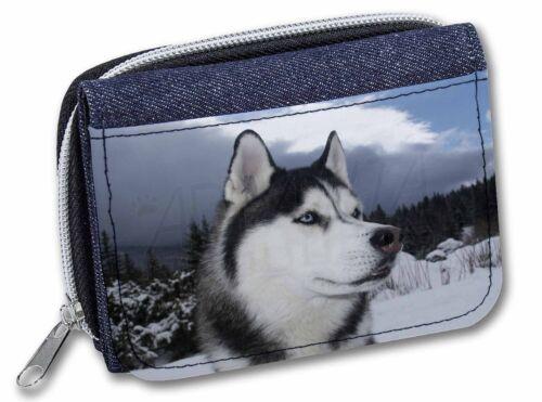 Siberian Husky Dog Girls//Ladies Denim Purse Wallet Christmas Gift Idea AD-H52JW