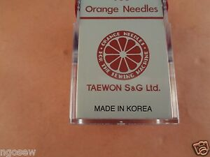10 ORANGE Walking Foot Sewing Machine Needles DPX17 135X17 Size 23