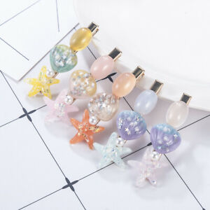 Trendy-Jewelry-Sea-Shell-Hair-Clips-Women-039-s-Barrettes-Pearl-Hairpin-Accessories