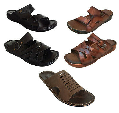 Mens Leather Sandals Walking Memory