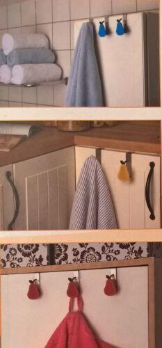 4 Türhaken Badhaken Birnen Handtuchhalter Badezimmerhaken Edelstahl NEU