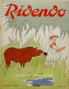 GéNéReuse Ridendo N°288 - 1965 - Safari - Illustration R.lep - Publicités Médicales