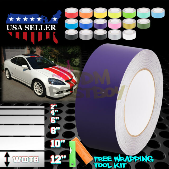 Matte Color Racing Stripes Vinyl Wrap Decals For Acura RSX