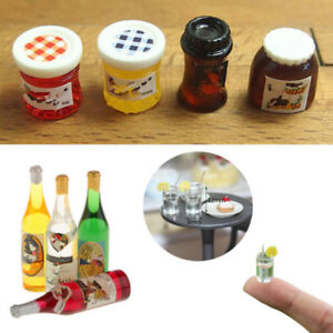 4X-Dollhouse-Miniature-Jam-Bottled-Mineral-Water-1-6-1-12-Scale-Model-Decor-New