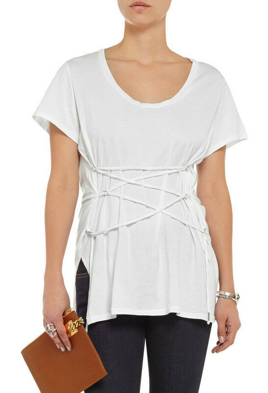 ISABEL MARANT White Theo brushed-cotton T-shirt Top New BNWT 12 FR 40 RRP