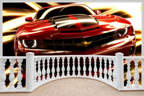 Énorme 3D balcon GM Chevrolet Camaro Wall Stickers Papier Peint 768