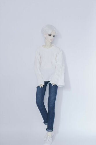 NEW Boy 1//3 Bjd Clothes Stripe The Horn Sleeve Tops White Bjd Accessories