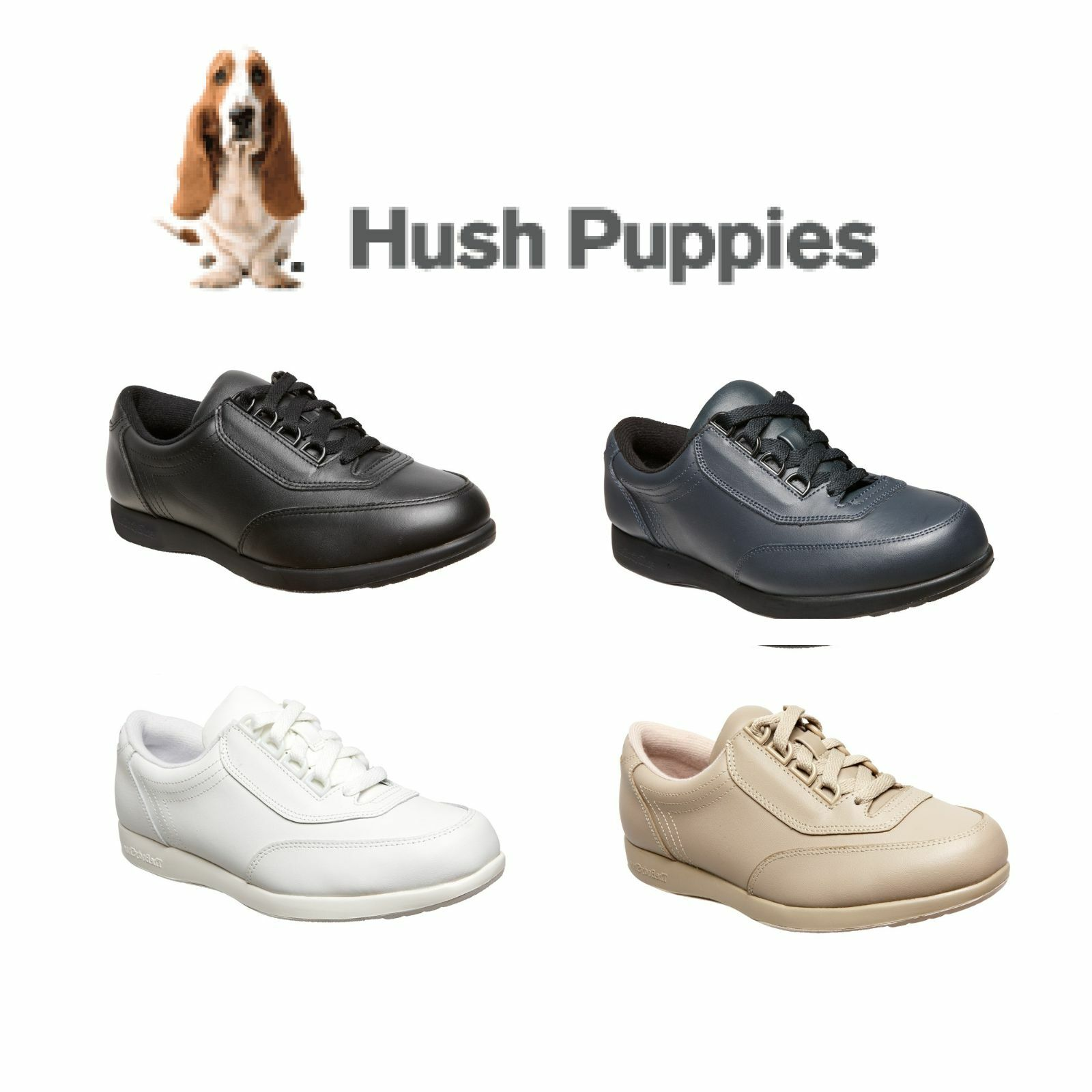 donna LADIES HUSH PUPPIES CLASSIC WALKER CASUAL COMFORTABLE LEATHER scarpe CHEAP