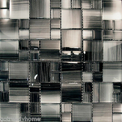 Sample- Hand Brushed Patten Glass Mosaic Tile For Kitchen Backsplash Bath Sink