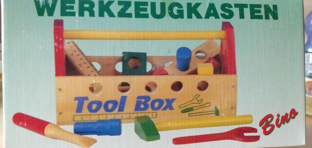 2in1 LKW Holzwerkbank Auto Laster Werkzeuge Schrauben Holzspielzeug Motorik Holz