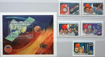 100% Wahr Madagascar Malagasy 1985 1005-09 Block 32 741-46 Intercosmos Space Raumfahrt Mnh