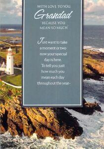 Grandad Birthday Card New Greeting Card Limited Free Postage