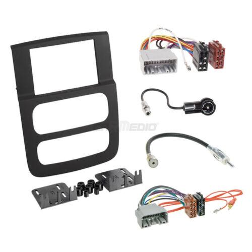 Autoradio Einbauset 2-DIN Dodge RAM 02-06 Kabel Einbaurahmen schwarz