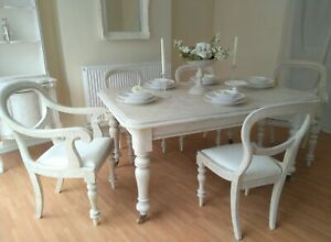 French Antique Shabby Chic Dining Table