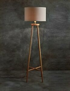 best website 6e3f1 86952 Details about M&S Toni Floor Lamp Tall Wood Stand Statement Furniture Piece  Standing Lamp