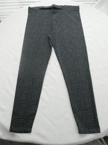 Leo Leggings XL 48 50 Bio Baumwolle Schwarz Grau hochwertig blickdicht elastisch