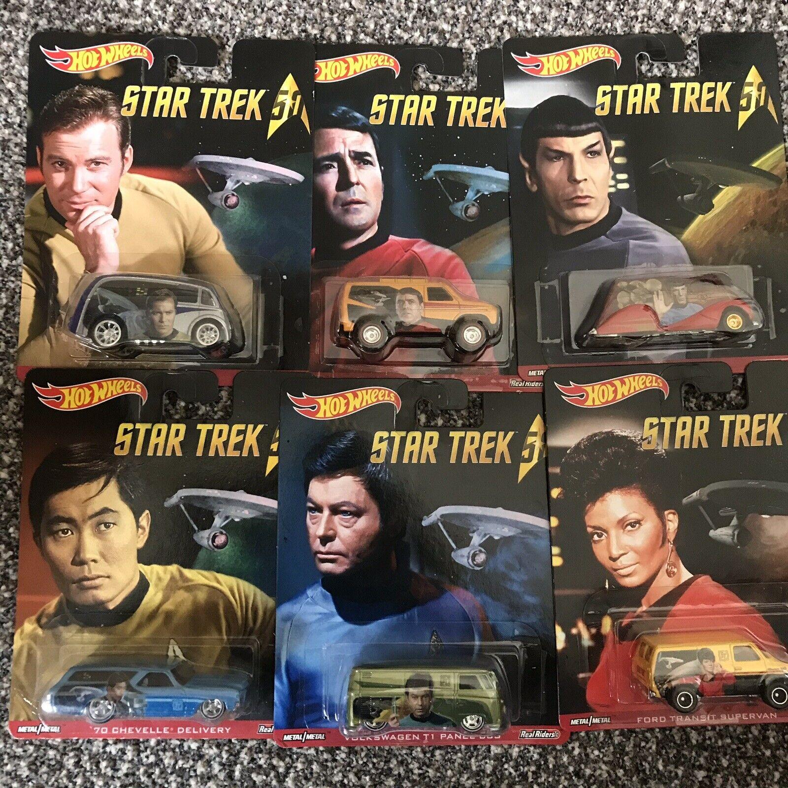 Hotwheels Set Completo De Colección De Star Trek