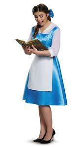 Belle Village Dress Adult Womens Costume, Disney, Blue/White, Disguise