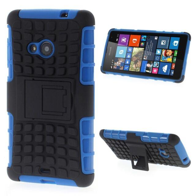 Outdoor Case TPU Hybrid Skidproof Kickstand Cover Hülle Blau für Nokia Lumia 535