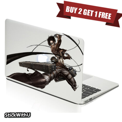 Macbook Air Pro Skin Sticker Decal Attack on Titan Anime Eren Yeager Big BN109