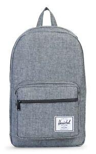 Herschel Pop Quiz Backpack Tasche Rucksack Freizeitrucksack Grau Raven Neu Uni QualitäT Zuerst Reisen