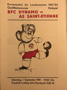 Programm-Europacup-Landesmeister-1981-82-BFC-Dynamo-AS-St-Etienne