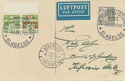 """/ 6.9.38 Slagelse"""" Special Event Postmark Exquisite Handwerkskunst; Udst Filatelistdags GroßZüGig Denmark """"10"""